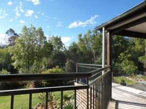 terrace for al fresco dining at Riverstone House B an B Geraldine accommodation