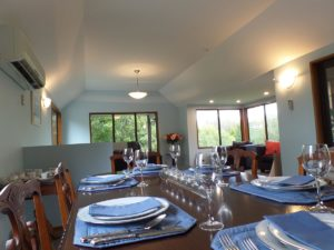 Evening dining at Riverstone House Bed and Breakfast accommodation Geraldine
