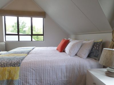 upstairs garden view retreat with super king bed